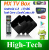 Tevê 2014 da tevê Box Amlogic 8726-Mx Dual Core 1.5GHz 1GB RAM Flash 8gbrom IPTV Mx2 Xbmc de Xbmc Pre-Installed Google Android 4.2.2 Box