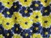 Laço de bobinamento da tela da fita da tela do bordado da flor colorida (6P0243)
