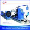 Maquinaria da Estaca-fora do plasma do CNC da tubulação de 3 linhas centrais