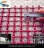 Rotes 65mn quetschverbundenes Metallineinander greifen