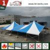 Tente en aluminium faite sur commande de luxe de crête élevée de bâti avec la couleur bleue et blanche pour des événements