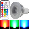 Mengs® GU10 4W RGB Dimmable LED Spotlight mit CER RoHS, 2 Years Warranty, 16 Colour, IR Remote Control (110160025)