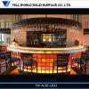 LEIDENE van /Illuminated van de Staaf van /Nightclub van de Staaf van de Oppervlakte van de ronde Lijst van de leiden- Staaf de Acryl Stevige TegenTeller van de Staaf