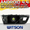 Carro DVD do sistema do Android 4.4 de Witson para Toyota Corolla 2014 com A9 sustentação do Internet DVR da ROM WiFi 3G do chipset 1080P 8g