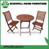 Tabela e cadeiras ao ar livre de dobradura da mobília da madeira contínua
