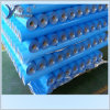 Material tejido azul del papel de aluminio