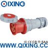 125A Three Phase Standard europeu Industrial Socket com CE Certification (QX1450)