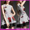 Cópia da flor dos vestidos do baile de finalistas da mulher da roupa de Rockabilly da roupa do estilo do vintage do fornecedor do OEM (SD006)