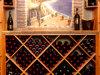 Cremalheiras de madeira do vinho