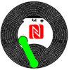 etiqueta de la etiqueta engomada/de la escritura de la etiqueta de 13.56MHz Hff NFC Ntag210 RFID para el teléfono celular del E-Pago