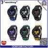 Yxl-187 2016 nuevos llegan reloj lindo del silicio de los deportes de los hombres de la jalea de la pulsera de la manera del regalo más fábrica del reloj de las zonas horarias