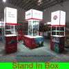 Toont de Gemakkelijke het Assembleren van de douane Draagbare Modulaire Handel de Cabine van de Vertoning met Lightboxes