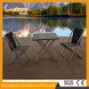 Conjunto plegable de aluminio del vector de la silla del patio del metal de los muebles al aire libre negros del restaurante