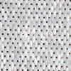 Azulejo de mosaico blanco puro del octágono de la cara del arco del shell de agua dulce