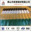 os materiais 100% desobstruídos de Bayer do Virgin do policarbonato de 840mm corrugaram a folha UV material de construção colorida folha do PC da proteção do telhado