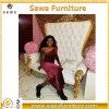 Venta al por mayor moderna de la antigüedad del sofá de la tela de los muebles de la boda