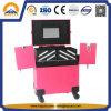 Кожаный косметический случай красотки чемодана состава на колесах (HB-6201)