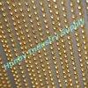 Rideau s'arrêtant fonctionnel en chaîne coloré par or de bille en métal