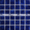 мозаика цветения 48X48mm застекленная кристаллом синяя (BCK637)