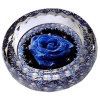 Weinlese Round Cigar Ashtray mit Rose Flower Crystal Glass Ashtray