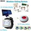 レストランPager Call Bell System Monitor Watch Wristおよび1キーTransmitter