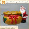 Il Babbo Natale di ceramica Nestled vicino al grande sacco, decorazione di natale