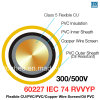 60227 cabo flexível selecionado Sheathed PVC resistente do óleo do IEC 74 (RVVYP)