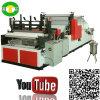Niza fabricación de alta velocidad de la máquina del rodillo del papel de la cocina de la toalla del ajuste del borde