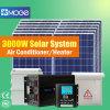 Moge 3000W van Systeem van de Verlichting van het Sta-caravan van het Net het Zonne Hybride