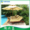 Umbrella (FY-020CB)를 가진 나무로 되는 Recliner Chair Outdoor Furniture Wood Sunbed