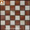 50*50 het vierkante Rode/Witte Geslepen Marmeren Mozaïek van de Steen