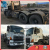 Caminhão usado do trator do reboque de Hino 700 dos Bom-Condição-Chassis do Abs-Dana-Eixo 380HP/P11c-Engine 30ton/2008/6*4-LHD-Drive