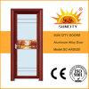クルミの単一の洗面所のアルミ合金のドア(SC-AAD020)