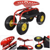 Rolling Garden Cart Workshop Seat Heavy Duty Tool