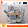 牛分割された白い綿の背皮の溶接工の手袋Dlc109
