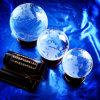 De Bol van het Kristal van het glas met Houten/Houten Basis