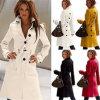 Оптовая продажа пальто шанца тонкой зимы кашемира женщин теплая длинняя (50230)