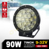 7 인치 90W Red LED Offroad Work Driving Fog Light 8100lm Flood Lamp SUV Ute ATV