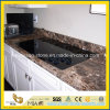 Prefabricate Dark Emperador Marble Kitchen Countertop