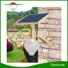 Réverbère solaire d'or de lumière de mur de lumière de lampe de jardin de forme de pêche de lumen élevé et de détecteur DEL de contrôle de temps