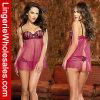 Ropa interior atractiva de señora Red Perspective Chiffon Underwear