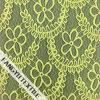 100%Nylon黄色い花模様デザインレースファブリック