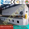 주문을 받아서 만들어진 자동적인 CNC 공작 기계 유압 가위 금속 장 깎는 기계 QC11y-25*10000