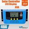 40A zonneLCD van de Last van het Controlemechanisme USB van de Regelgever 12V 24V Vertoning PWM voor Batterijen