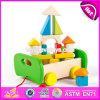 Novo projeto Melhor pré-escolar Construir blocos de madeira Brinquedos para crianças W13c034