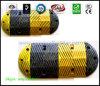 Topetón Amarillo-Negro del control de velocidad del producto de la seguridad en carretera de la chepa de goma de la velocidad