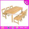 Großhandelsqualitäts-Primärschule-hölzerne Kind-Tisch-Stühle für Kind-Studie W08g230