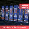 Digital impresa haciendo publicidad de banderas colgantes de la cerca con precio bajo