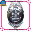 Metal Police Badge com 3D Logo Engraving