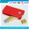 A forma nova da chave simples personaliza a movimentação de couro do USB do logotipo (EL026)